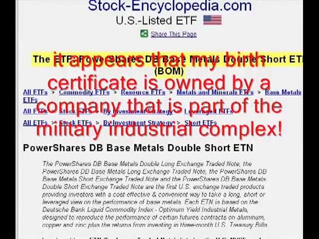 Proof That Birth Certificates Are Traded On NYSE Stock Exchange | ConCen